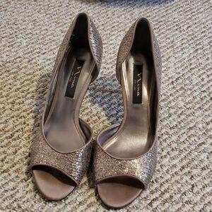 Nina bronze metallic heels
